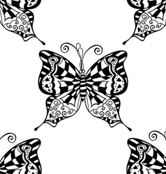 Butterfly Patterned Wallpaper vector