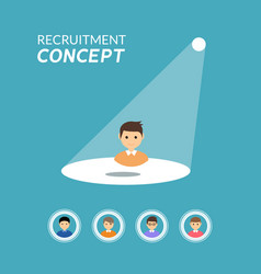 Career recruitment or hiring concept vector