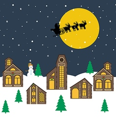 Christmas night vector image
