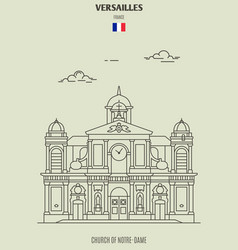 church of notre-dame in versailles vector image