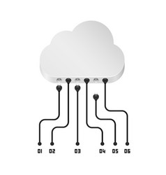 cloud information data art sign vector image