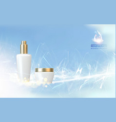 Collagen regenerate cream vector