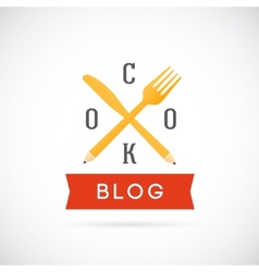 Cook Blog Concept Icon or Logo Template vector
