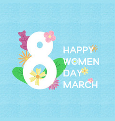 creative womens day greeting card bannerposter vector image