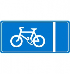 cycle lane vector image