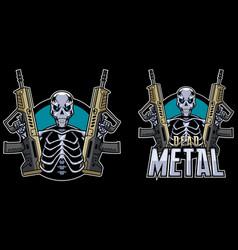 dead metal mascot vector image