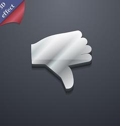 Dislike Thumb down icon symbol 3D style Trendy vector