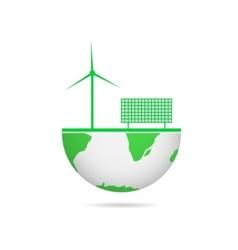Energy saving technologies vector image