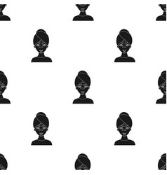 facial mask icon in black style isolated on white vector image