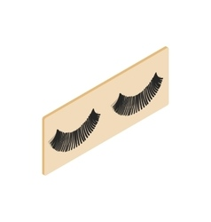 False eyelashes icon isometric 3d style vector