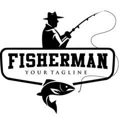 Fisherman logo vector