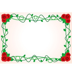 Frame with roses and spikes vector