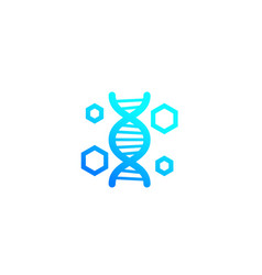 Genetics dna research icon vector