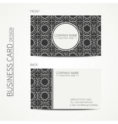 Geometric lattice monochrome business card vector