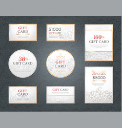 gift cards and promotion banner with reductions vector image
