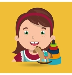 girl toys cartoon vector image