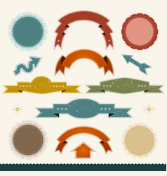 Grunge banners arrows and ribbons vector