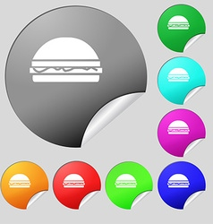 Hamburger icon sign Set of eight multi colored vector
