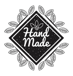 hand made label monochrome icon vector image