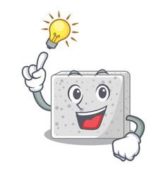 Have an idea fresh feta cheese isolated on maskot vector