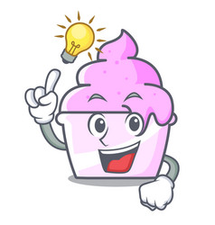 Have an idea ice cream paper cup mascot cartoon vector