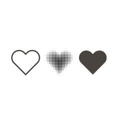 Hearth set icon on a white background hearth icon vector