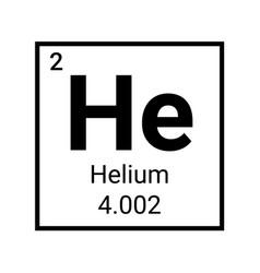 Helium periodic table element chemistry symbol vector