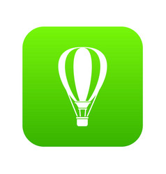 Hot air ballon icon digital green vector