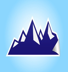icy mountain sticker vector image
