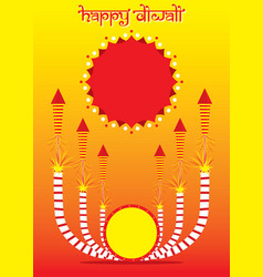 Indian big festival diwali offer poster design vector