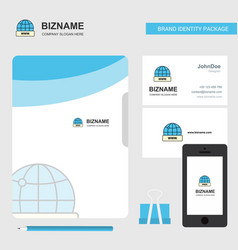internet business logo file cover visiting card vector image
