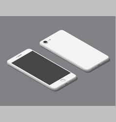 isometric flat smartphone mockup vector image