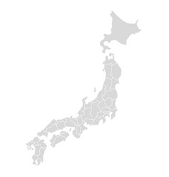 japan map icon hokkaido ai detailed vector image