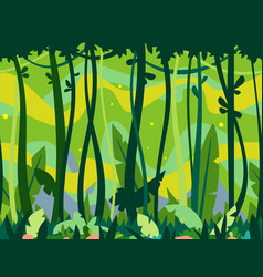 jungle forest game background vector image