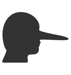 Lier flat icon vector