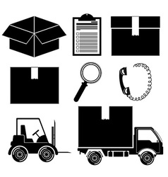 Logistics and delivery design vector image
