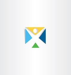 Logo logotype letter x man icon vector