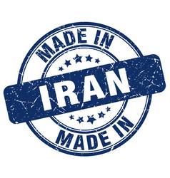 Made in iran blue grunge round stamp vector