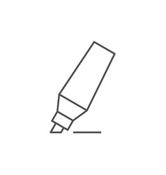 Marker pen outline icon vector
