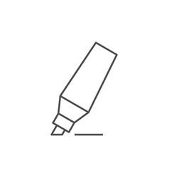 Marker pen outline icon vector