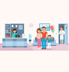 maternity home flat vector image