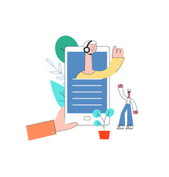 online assistant concept customer care flat vector image
