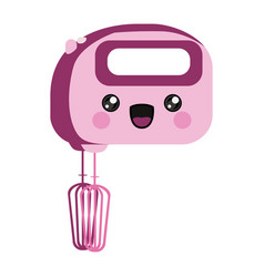 pink color silhouette of cartoon kitchen mixer vector image