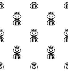 Prisoner black icon for web and vector