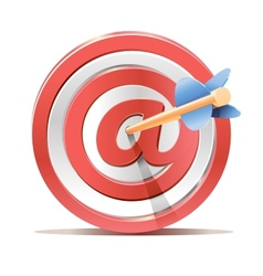 Red darts target aim and arrow vector image