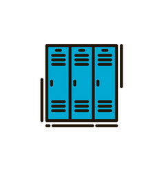 School locker vector