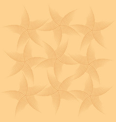 sea shell seamless pattern sand beach seamless vector image