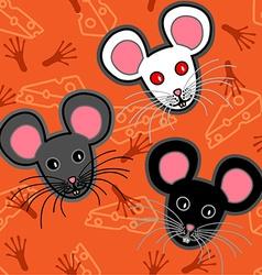 Seamless mice pattern vector