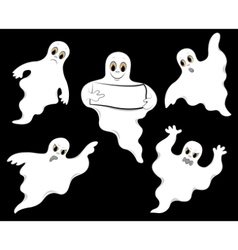 set of ghosts vector image