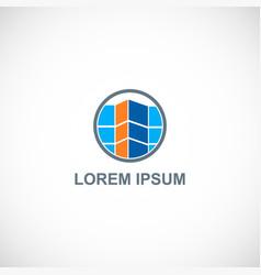 shape building company logo vector image
